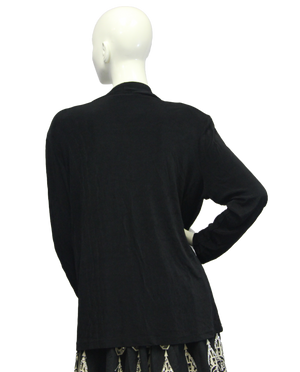 Dream Drape Black Travelers Blazer Size XL  (SKU 000046) - Designers On A Dime - 3