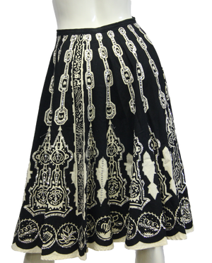 Hobo Black and White Skirt Size L/XL (SKU 000026) - Designers On A Dime - 1