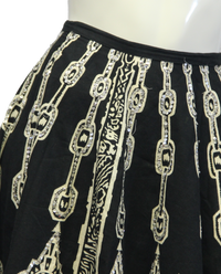 Hobo Black and White Skirt Size L/XL (SKU 000026) - Designers On A Dime - 3