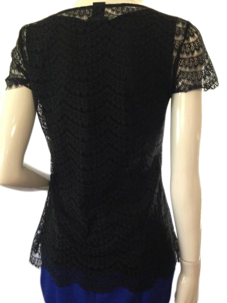 Ann Taylor simply sexy black lace top size small (SKU 000209)