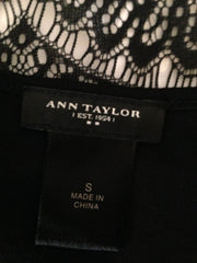 Ann Taylor Top Black Lace Size Small (SKU 000209)