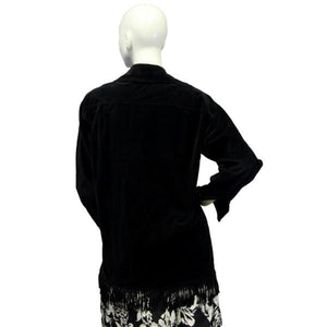 Jordan and Cole Jacket Black Fringe Size S SKU 000045