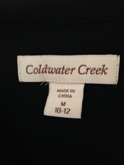 Coldwater Creek very sheer extra long, long sleeve blouse button-up front size medium (SKU 000209)