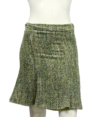 Arden B. Green Boucle Skirt Size XS (SKU 000013) - Designers On A Dime - 1