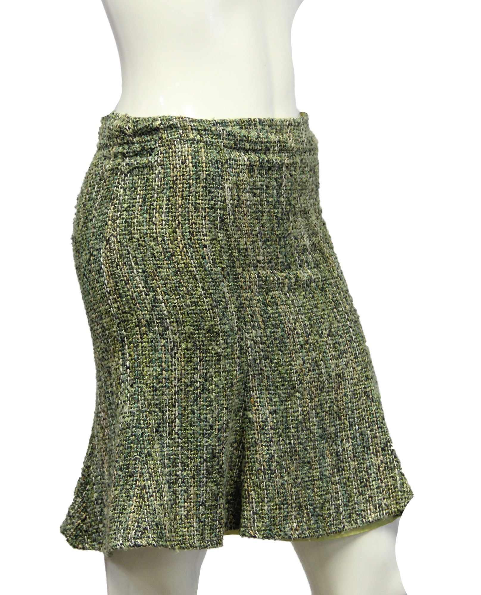 Arden B. Green Boucle Skirt Size XS (SKU 000013) - Designers On A Dime - 2