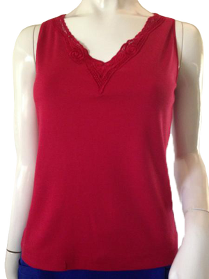 Chico's Tank Top Red Size 1 (SKU 000209)