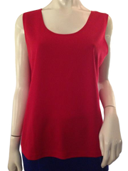 Chico's Market timeless scoop-neck red tank top size 2 (SKU 000209)