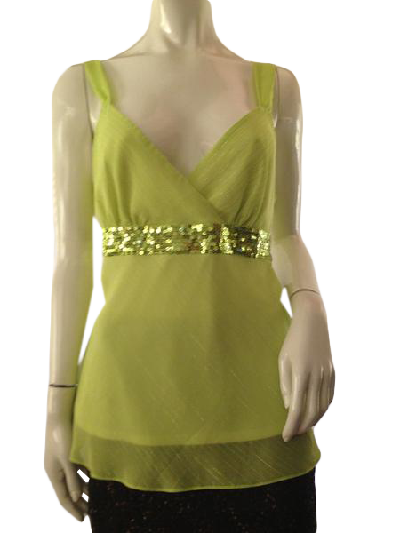 Top Lime Green with Sequins Size L (SKU 000209)