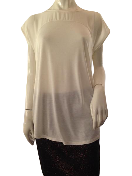 Ann Taylor Top Cream Size Medium (SKU 000209)