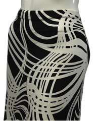 Moda International Patterned Black and White Skirt Size S (SKU 000013)