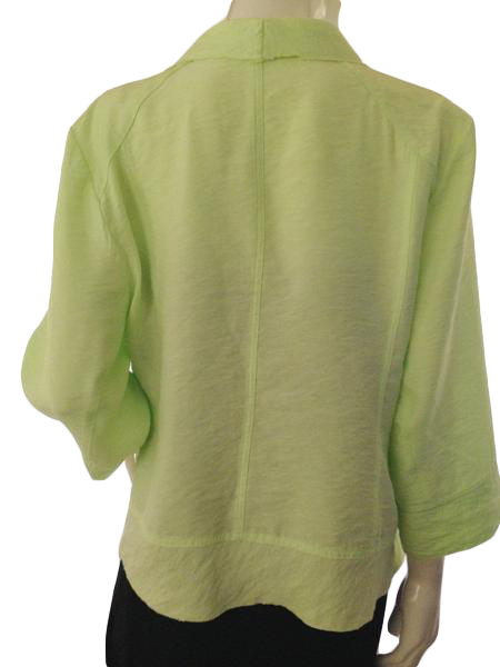 Chico's  shimmery Lime green flowy cardigan size 3 (SKU000209)