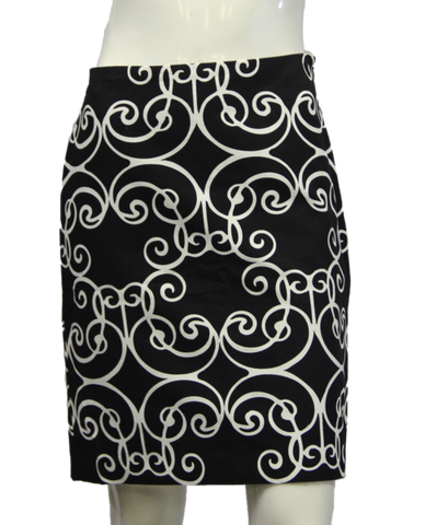 Ann Taylor Inverted Paisley Skirt Size 2 (SKU 000013)