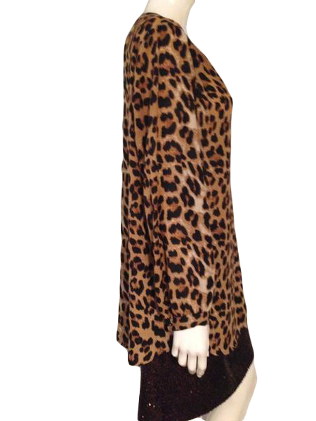 Daniel Rainn Top Animal Print Size XL (SKU 000209)