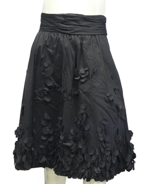 Calvin Klein Black Petal Skirt Size 10 (SKU 000013) - Designers On A Dime - 1