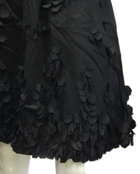 Calvin Klein Black Petal Skirt Size 10 (SKU 000013) - Designers On A Dime - 2