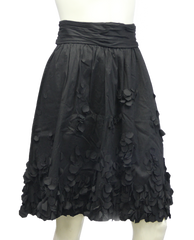 Calvin Klein Black Petal Skirt Size 10 (SKU 000013) - Designers On A Dime - 3