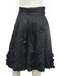 Calvin Klein Black Petal Skirt Size 10 (SKU 000013) - Designers On A Dime - 4