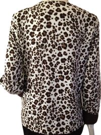 Liz Claiborne Animal Print Long Sleeve Cardigan Size Medium (SKU 000210)