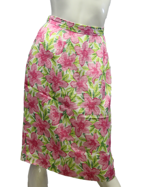 Talbots Flower Skirt Size 6 (SKU 000013) - Designers On A Dime - 1