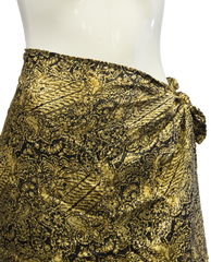 Island Collection Fancy Resort Skirt Size M (SKU 000026) - Designers On A Dime - 2
