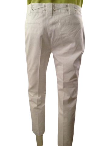 Nautica white stretch, straight leg pants with designer waist size 8 (SKU 000210)