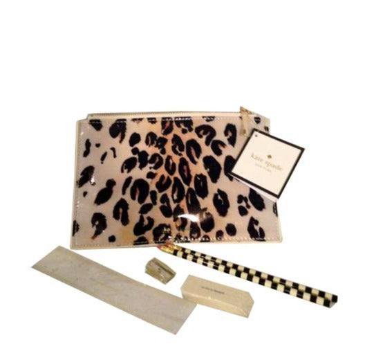 Kate Spade Leopard pencil pouch, new with tag  (SKU 000210)