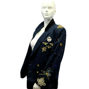 UTY International Blazer Green Embellished Sz 38 SKU 000045