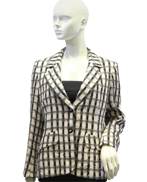Ecaille Pink Plaid European Blazer Sz 42 (SKU 000029)