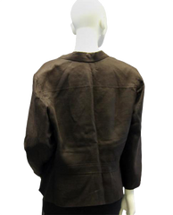 Ralph Lauren Brown Linen Blazer Sz 16 (SKU 000020)