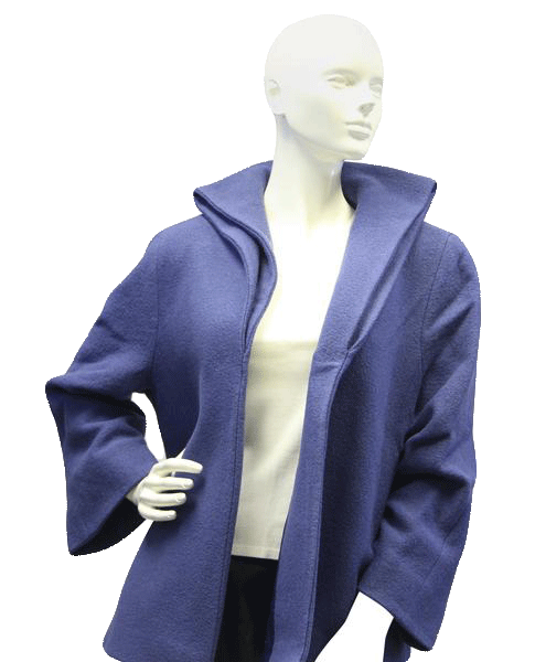 Zenobia Sleek and Chic Blue Coat Sz 14 (SKU 000015)