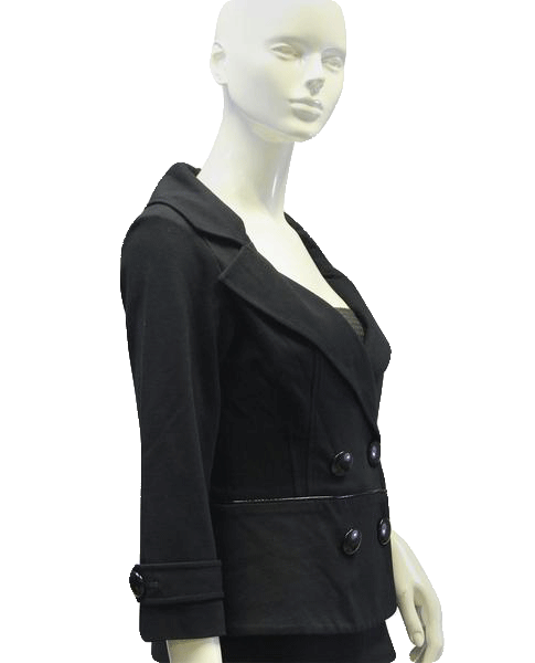 Cache Black Pattern Trim Blazer SM (SKU 000032)