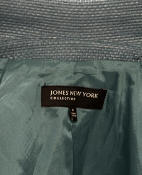Jones NY Blue Woven Blazer Size 8 (SKU 000032)