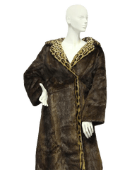 FUR Real Fur Vintage Coat from the 40's Size XL (SKU 000073)