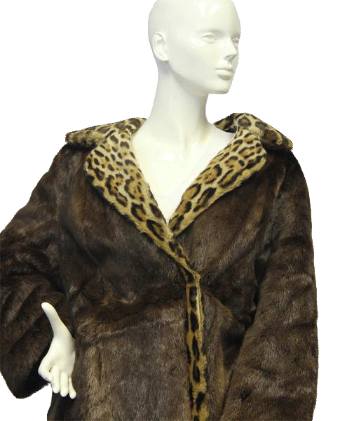 FUR Anita Kemper Real Fur Vintage Coat from the 40's Size XL SKU 000073