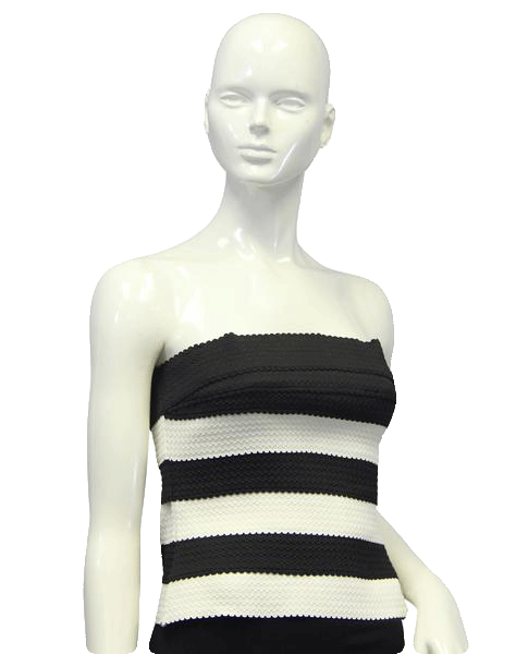 Wet Seal 60's Bustier Black & White Size M SKU 000024