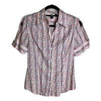 Laundry by Shelli Segal Short Sleeve Button Down Shirt Size M SKU 001007-2