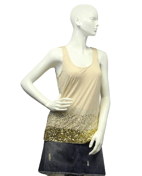 Splash of Gold Sequin Top Size Medium (SKU 000024)