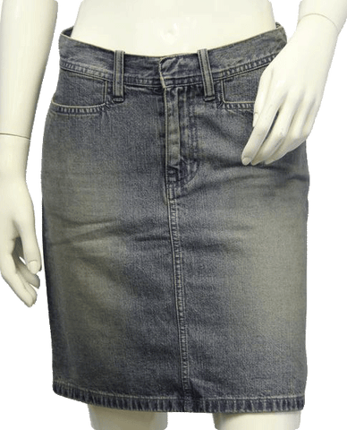 SKIRT Club Monaco Faded Denim Skirt Sz 4 (SKU 000002)