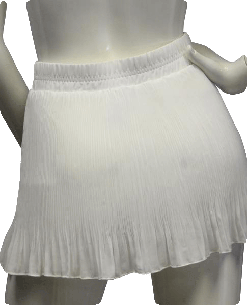 Wet Seal 80's Pleated White Mini Skirt NWT Size M SKU 000054