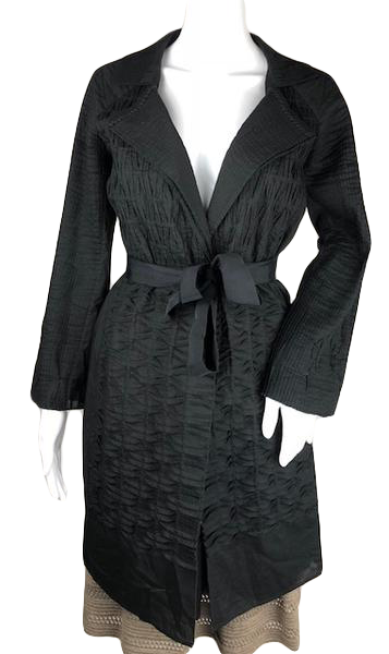 Elie Tahari Black Trench Coat Size S (SKU 001009-5)