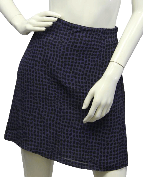 Banana Republic 60's Skirt Animal Print Cobalt Blue Size 14 SKU 000017