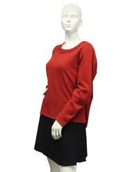 TanJay Sweater Red Embellished Size L SKU 000087