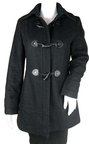 Calvin Klein Coat Black Size 2 (SKU 001011-2)