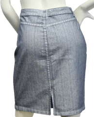 SKIRT Tailored Pinstripe Denim Skirt Sz 10 NWT (SKU 000002)