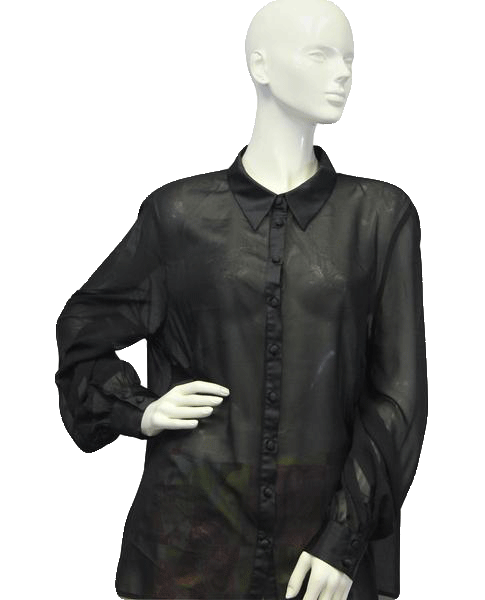 Satin Finish Sheer Top Size UK 20 (SKU 000024)