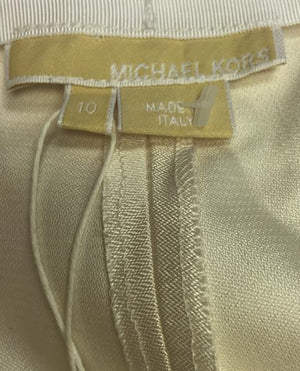 Michael Kors 100 % Silk Cream Pants NWT Originally $795 Sz 10 (SKU 000003)