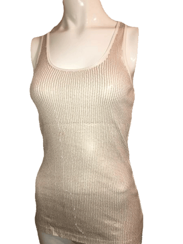 Designers on a Dime Gold Tank Top with Sequin Size Small  (SKU 000170)