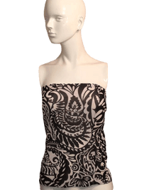 The Limited Black and White Strapless Top Size L SKU 000170