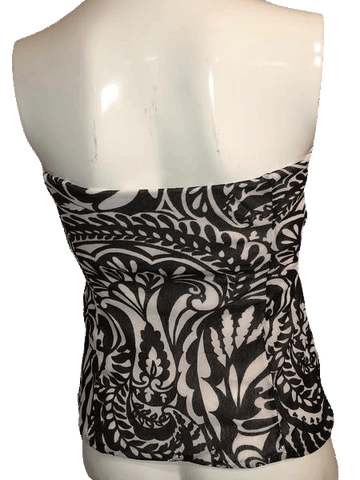 The Limited Black and White Strapless Top Size L  (SKU 000170)