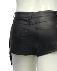 Cello Jeans Fringed Vegan Leather Shorts Size S (SKU 000039)